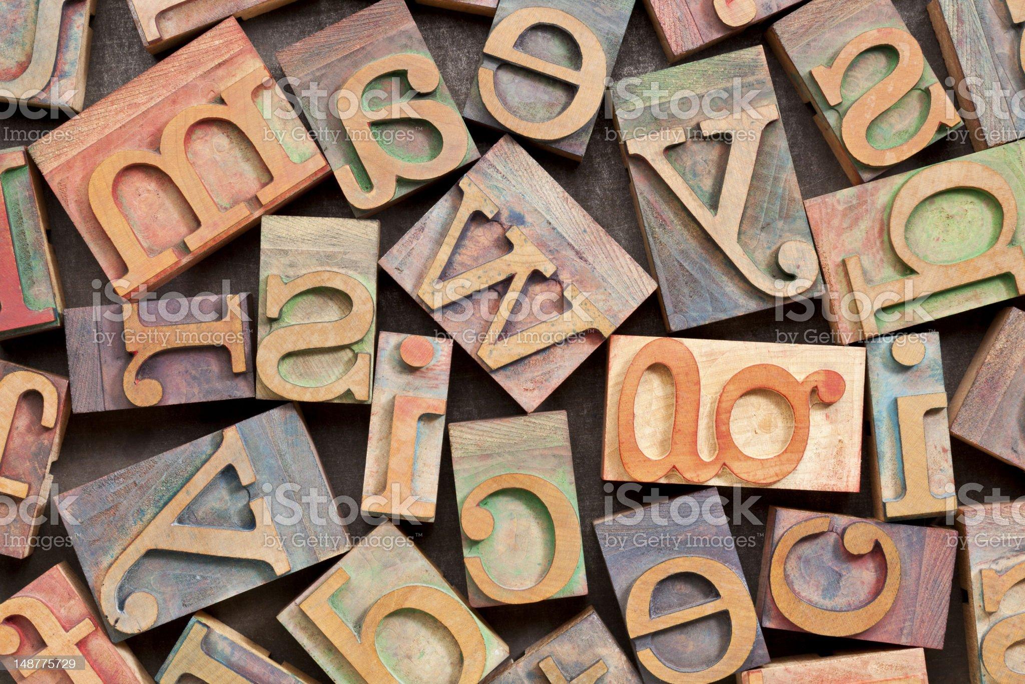 wood printing blocks background royalty-free stock photo