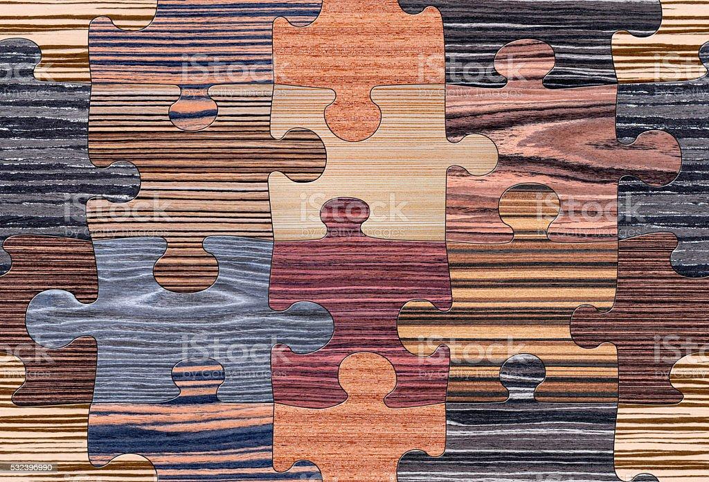 Wood Puzzle Mosaic Seamless stock photo