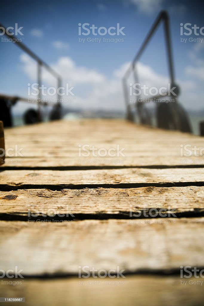 Wood quay stock photo
