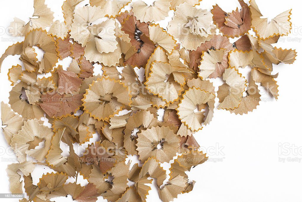 wood remains of a pencil sharpening royalty-free stock photo