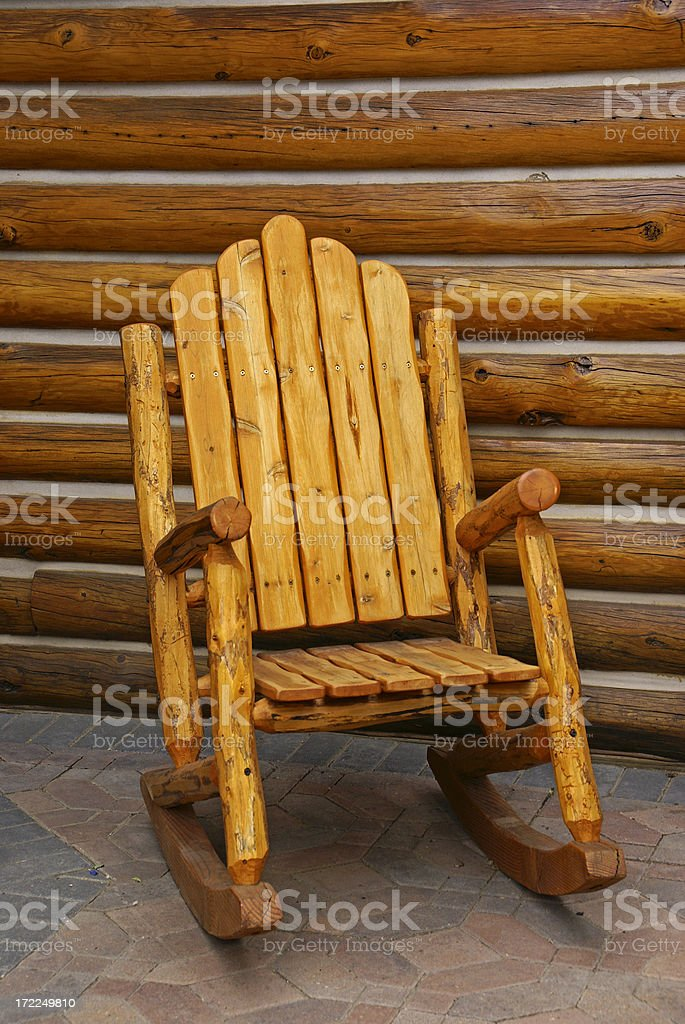 Wood Rocking Chair royalty-free stock photo