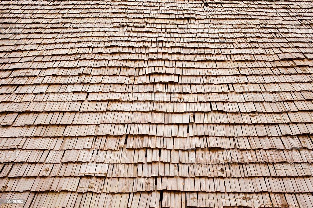 wood roof stock photo