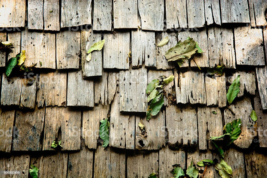 wood roof royalty-free stock photo