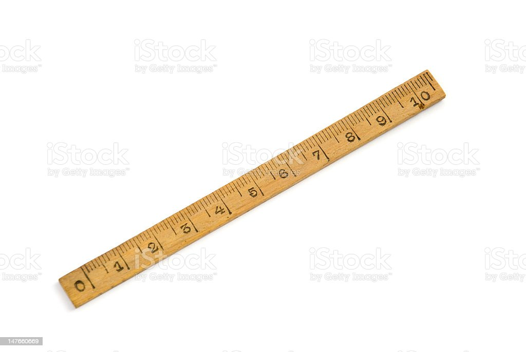 Wood Ruler royalty-free stock photo