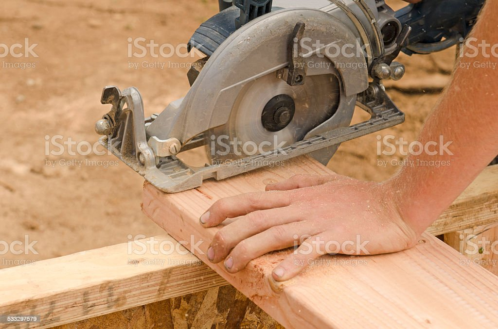 Wood Saw stock photo