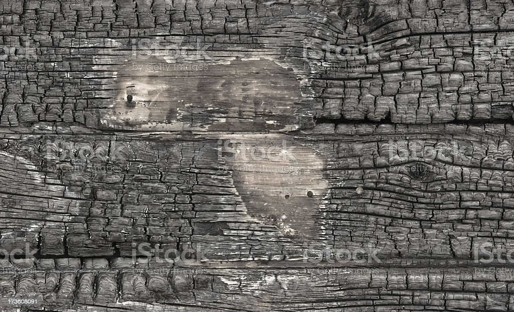 Wood scorched by fire royalty-free stock photo