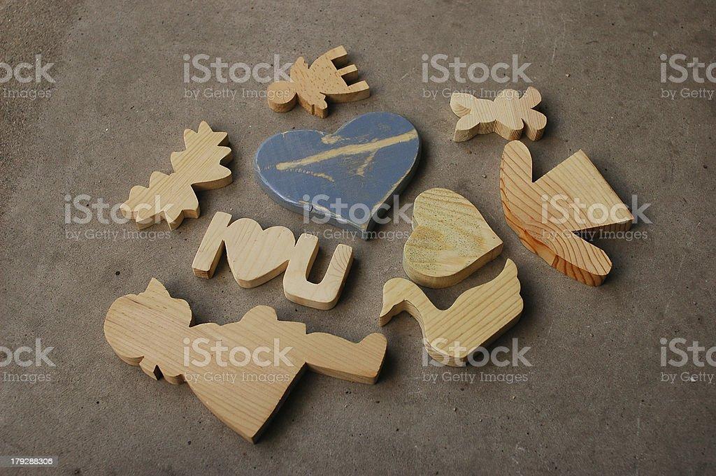 Wood Shapes royalty-free stock photo