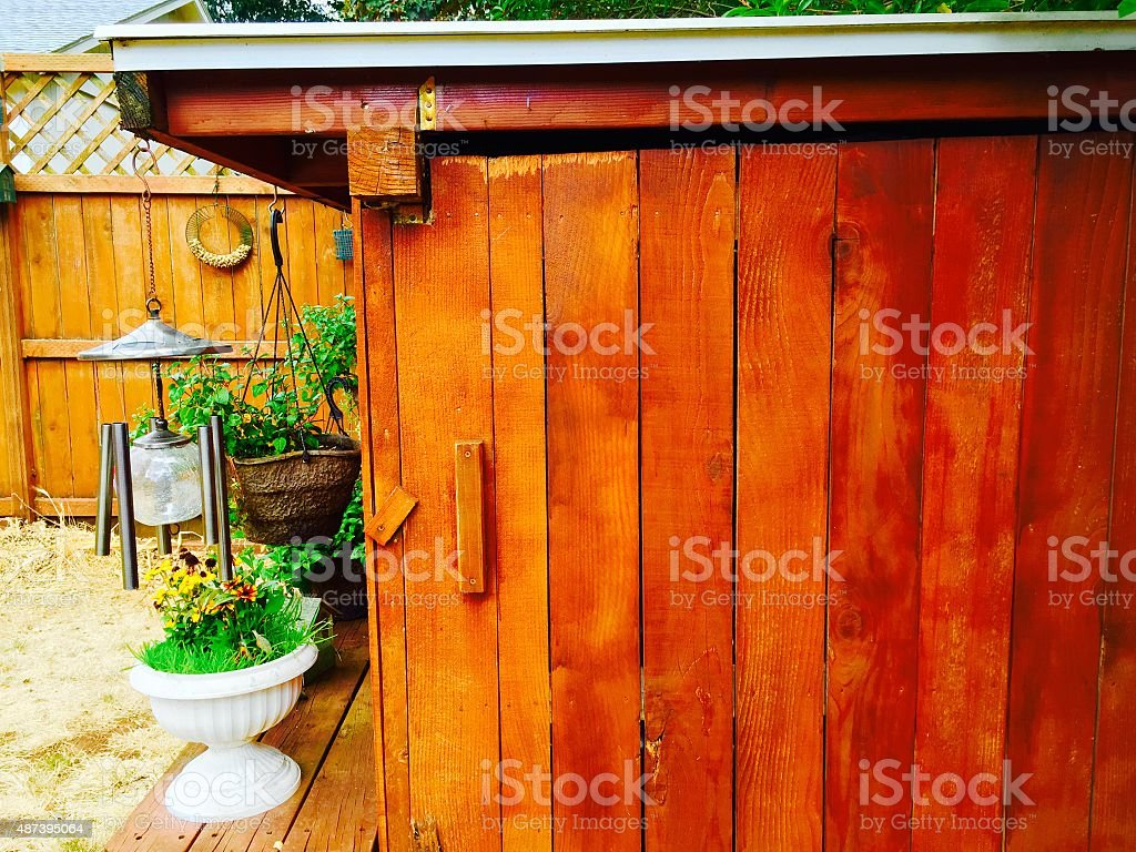 Wood Shed royalty-free stock photo