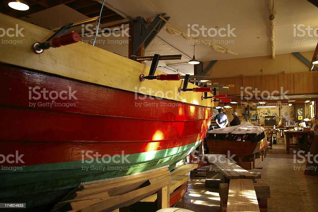 Wood Ship Warehouse royalty-free stock photo