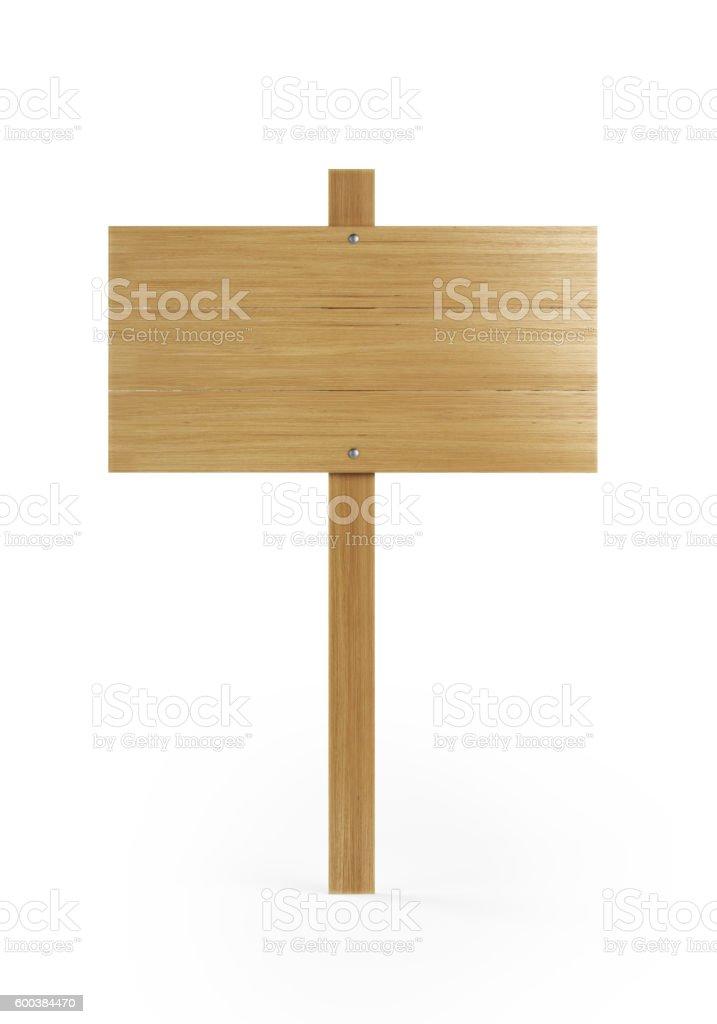 Wood Sign On White Background stock photo