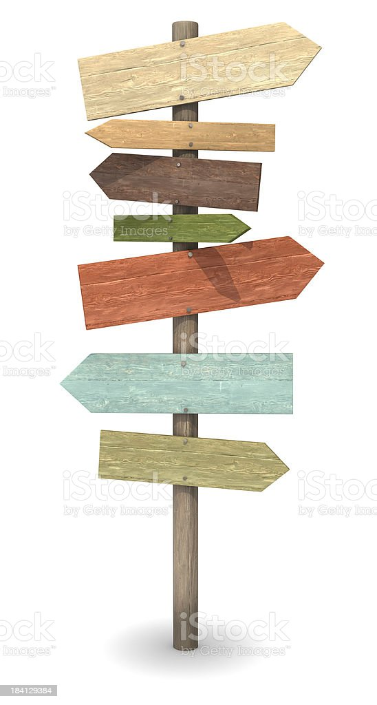 Wood Sign Post stock photo