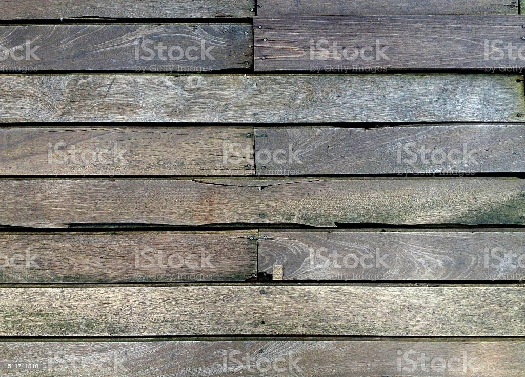 Wood slat floor stock photo