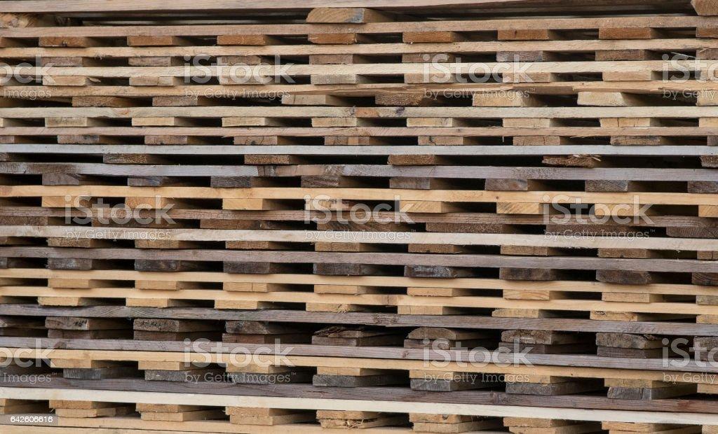 wood stack pattern stock photo