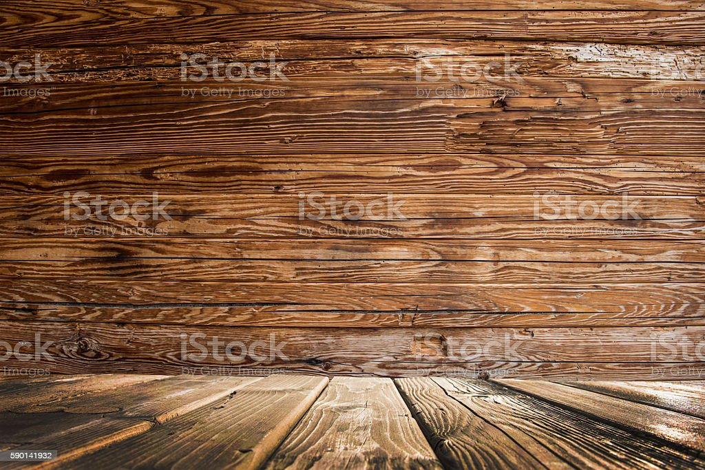 wood stage stock photo