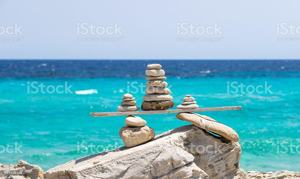 Wood & Stone stock photo