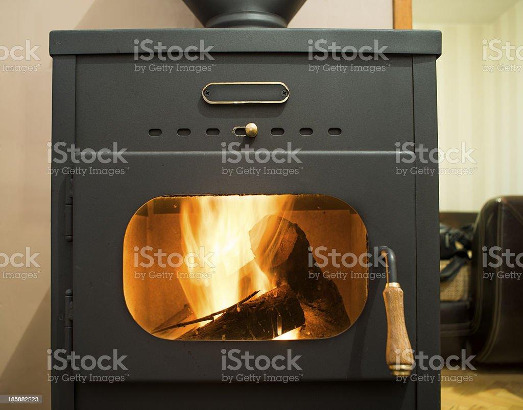 Wood stove stock photo