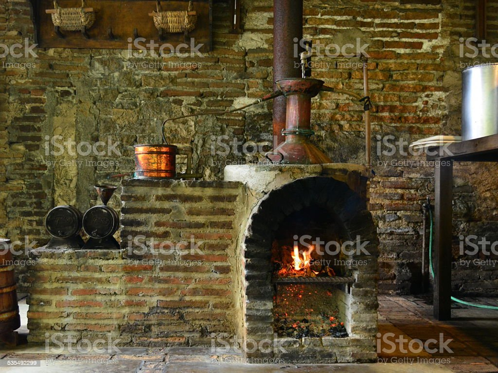 Wood stove stock photo