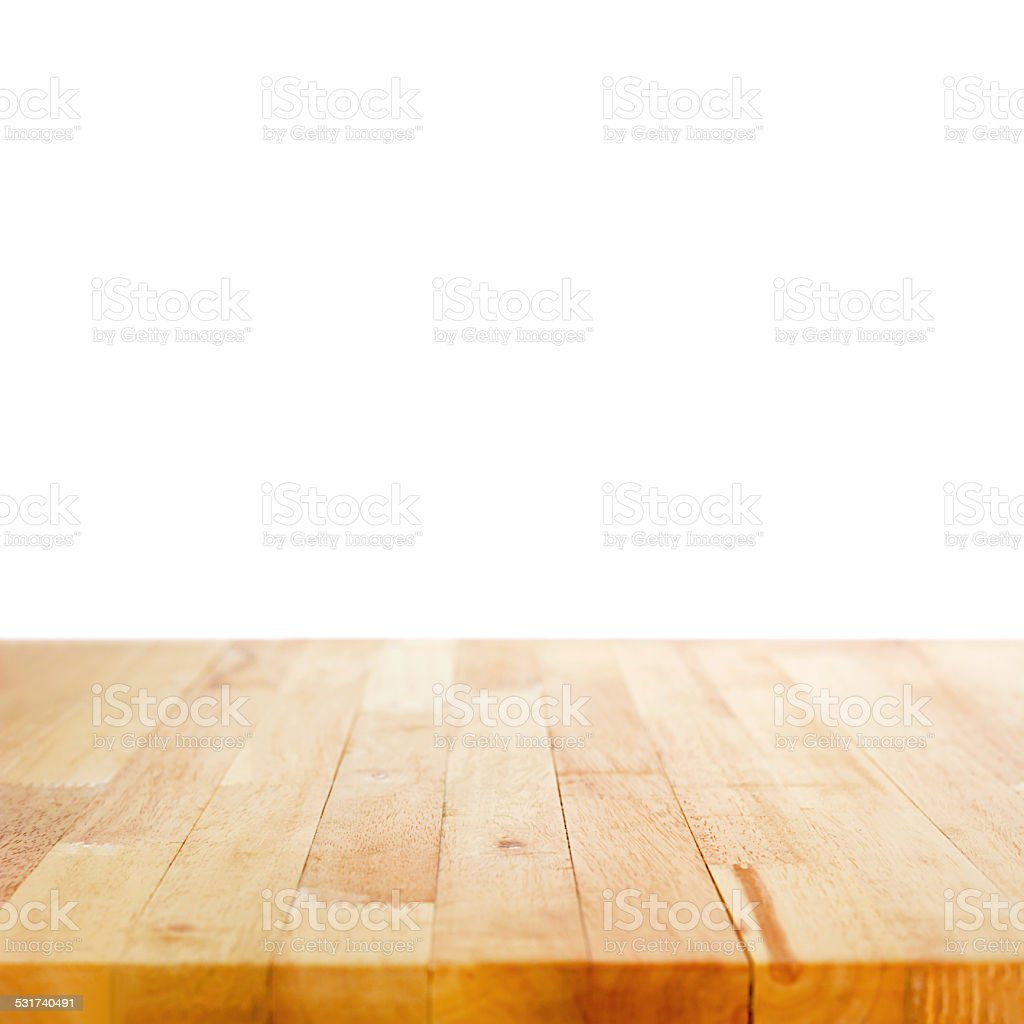 Kitchen Table Top Background wood table top on white background stock photo 531740491 | istock