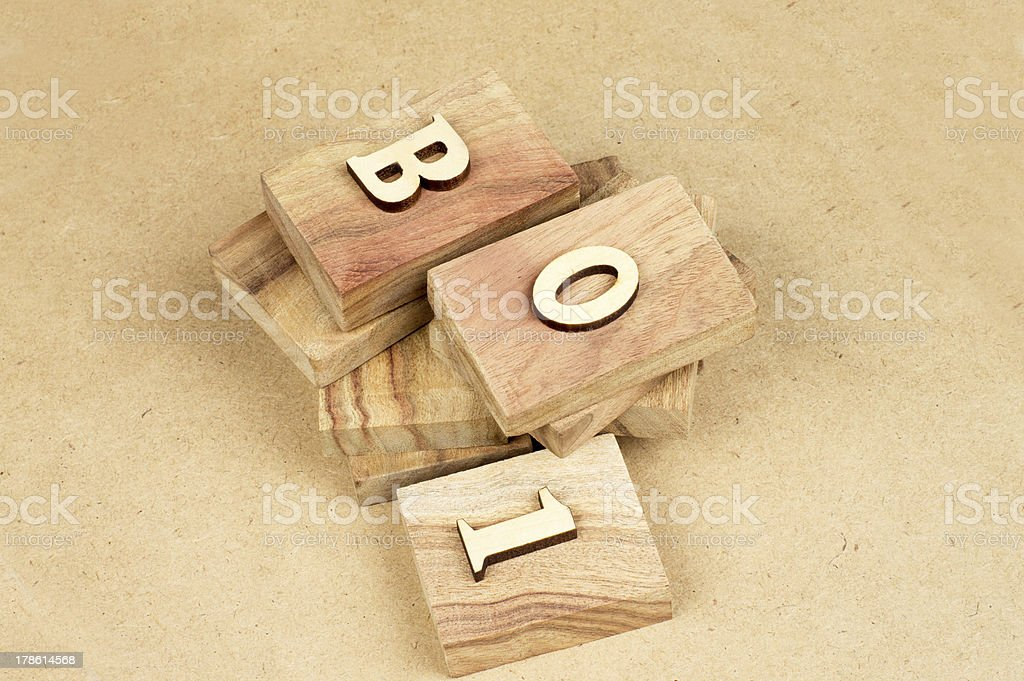 Wood text royalty-free stock photo