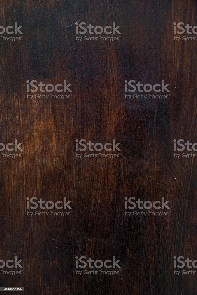 Wood texture with brushed black varnish coating stock photo