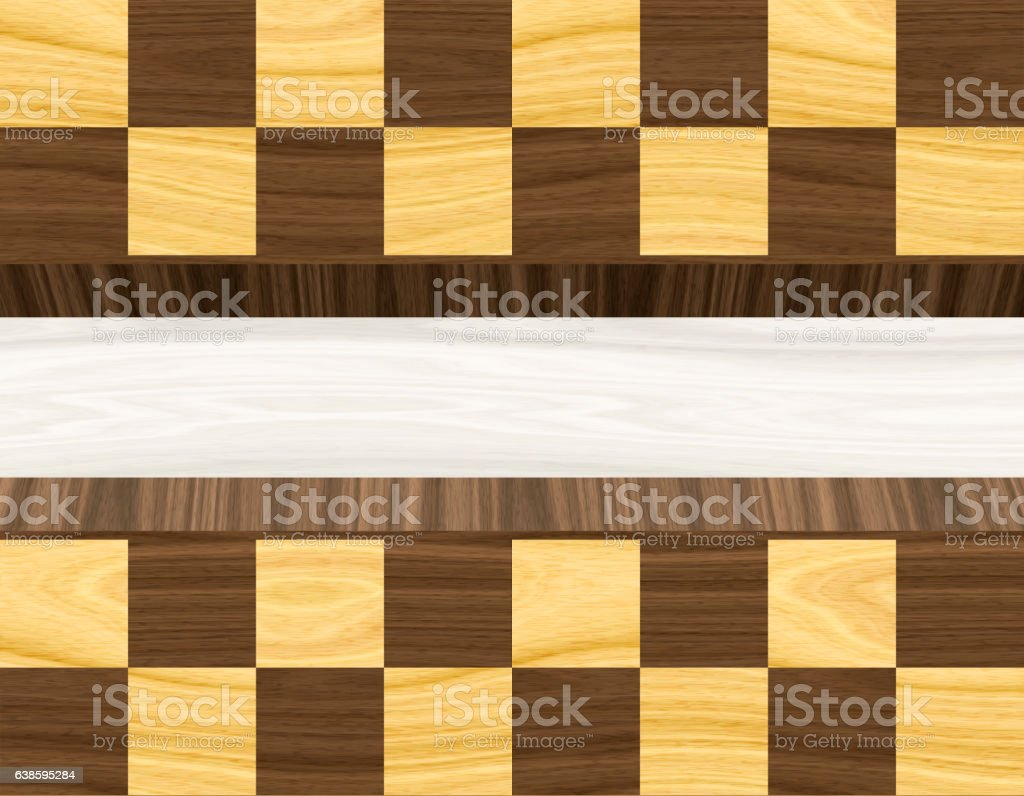 Wood textured background. Wooden Chess board. stock photo