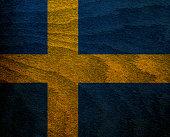 Wood Textured Flag -  Sweden