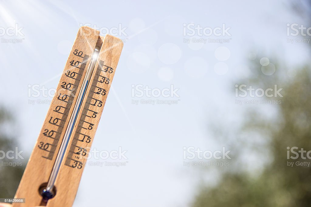 wood Thermometer stock photo