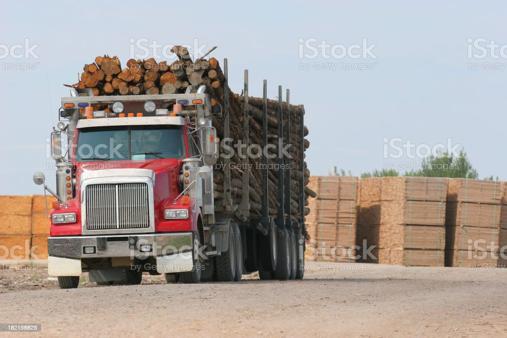 Wood Transport royalty-free stock photo