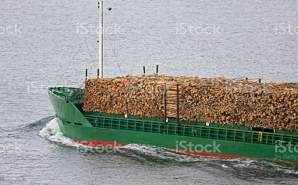 Wood transportation stock photo