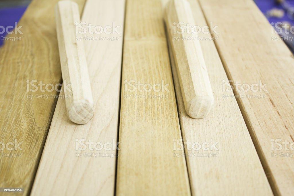 Wood txalaparta stock photo