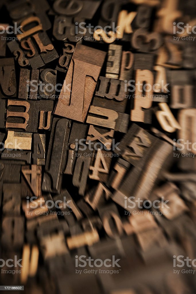 Wood Type Blur royalty-free stock photo