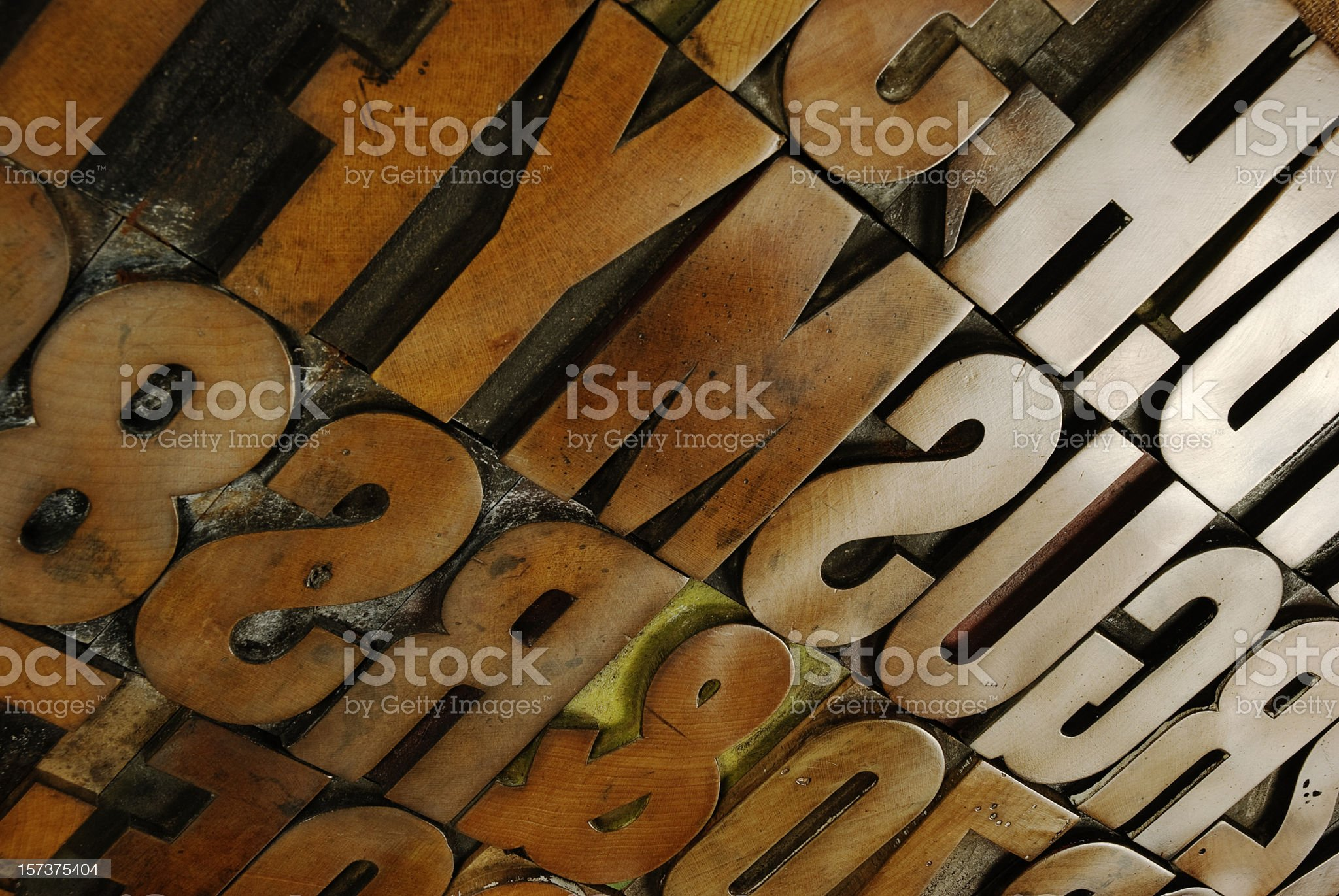 Wood type board extravaganza royalty-free stock photo