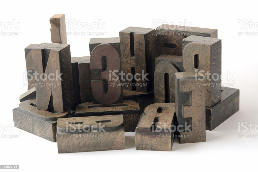 wood type grouping royalty-free stock photo