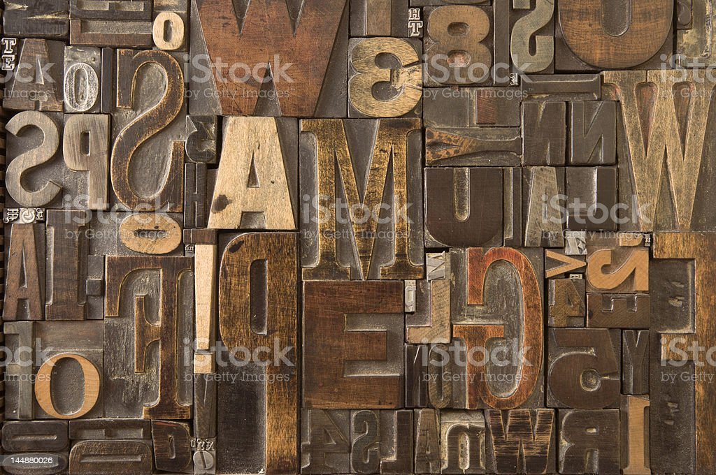 Wood type landscape version royalty-free stock photo
