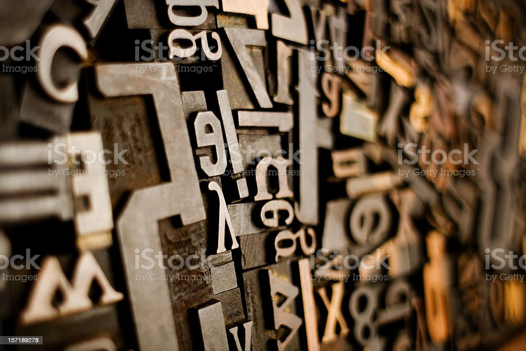 Wood Type Mixture stock photo