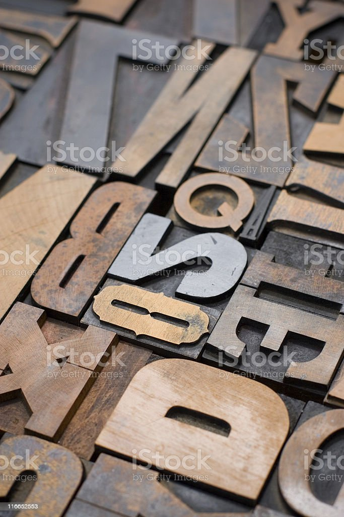 Wood Type royalty-free stock photo
