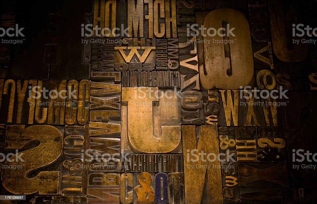 Wood Type royalty-free stock photo