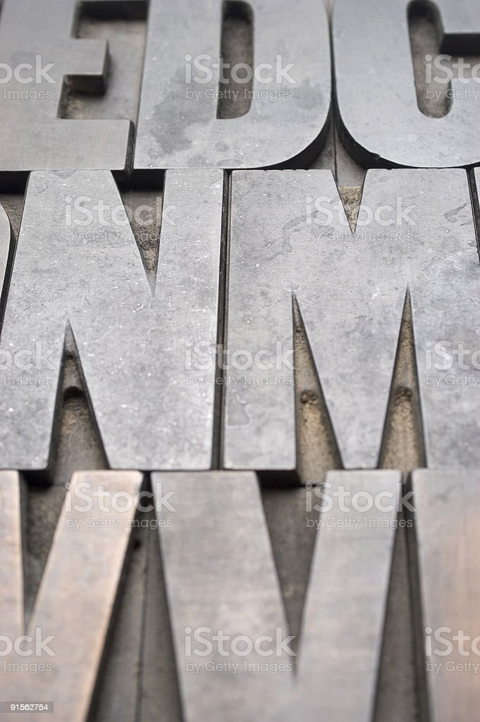 Wood Type stock photo