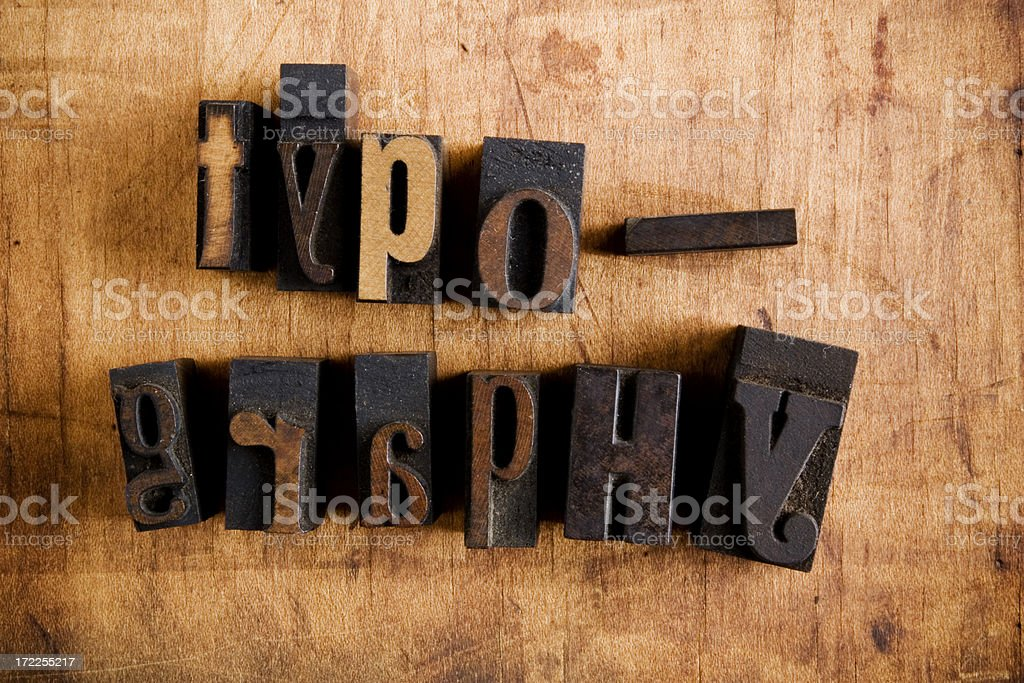 Wood Type Typography royalty-free stock photo