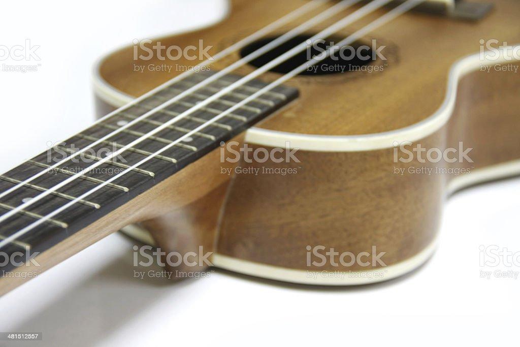 wood ukulele- fret ukulele royalty-free stock photo