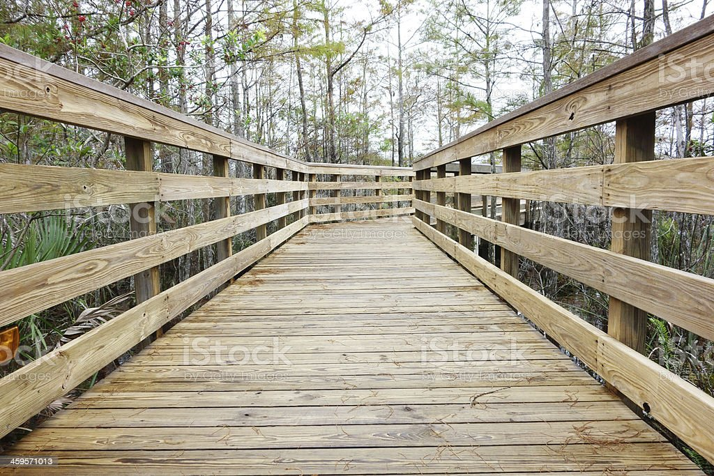 Wood walkway royalty-free stock photo