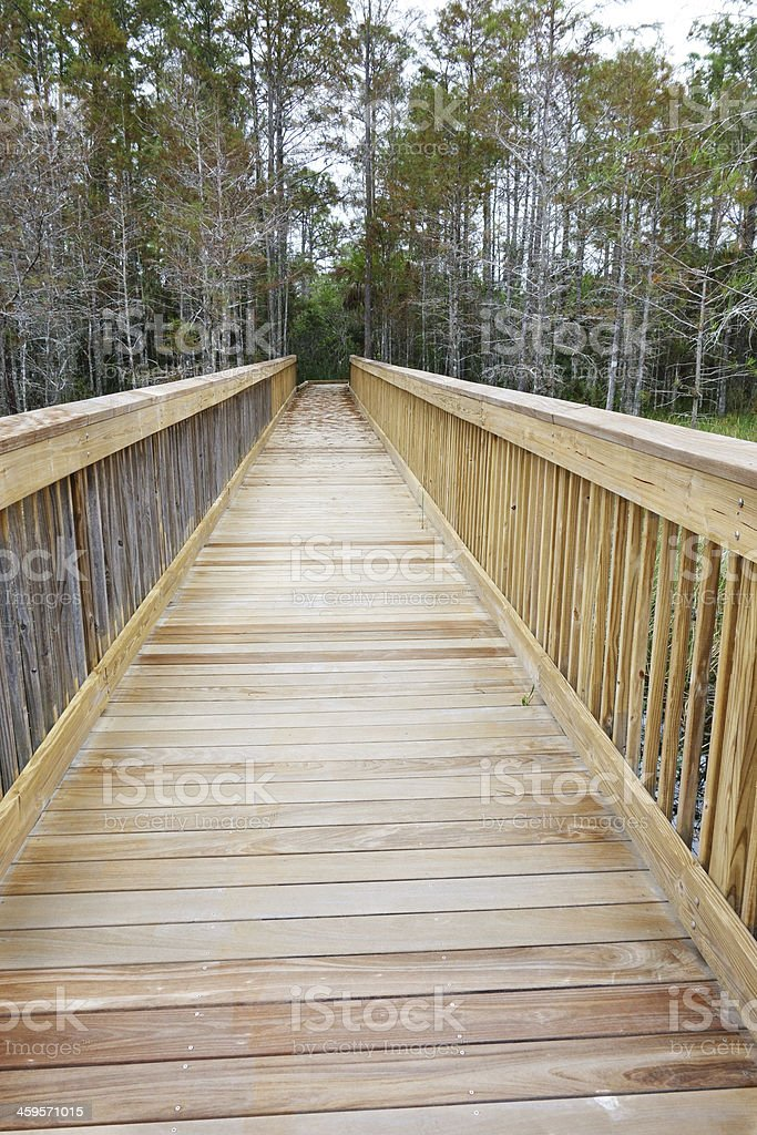 Wood walkway royalty-free stock photo