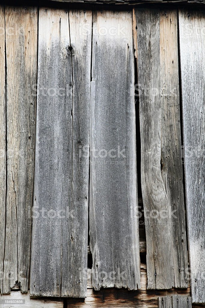 Wood Wall Of 1900's Cantilever Barn stock photo