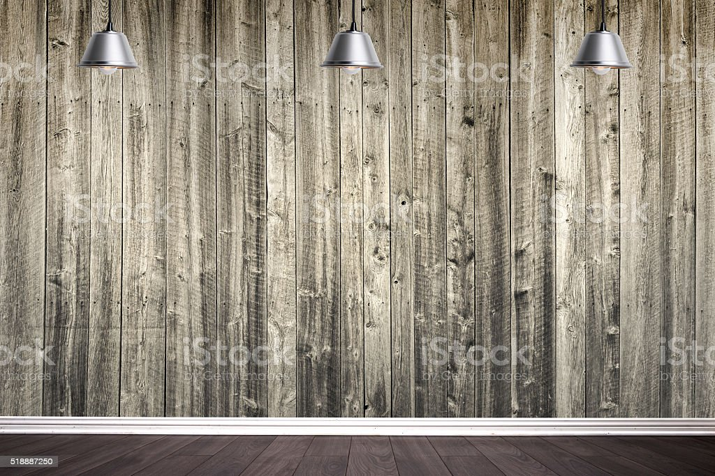Wood wall ready for your graphics stock photo