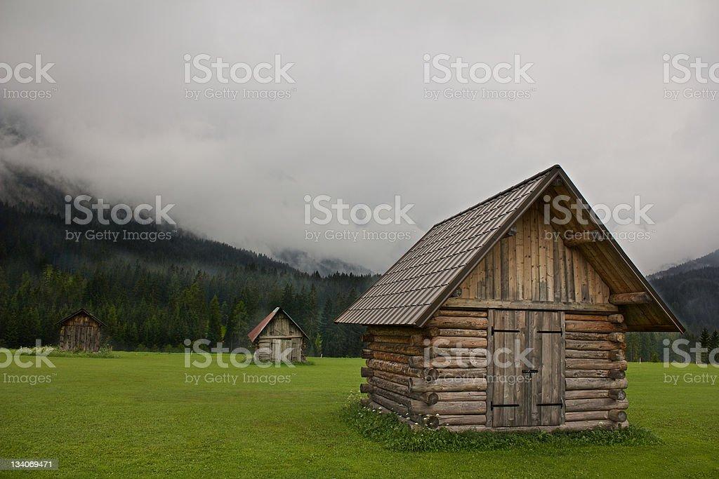 Wood warehouse stock photo