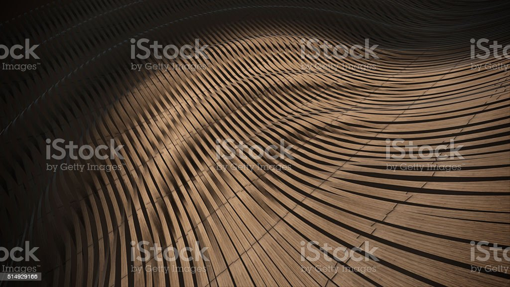 Wood weave 3D abstract background Stage royalty-free stock photo