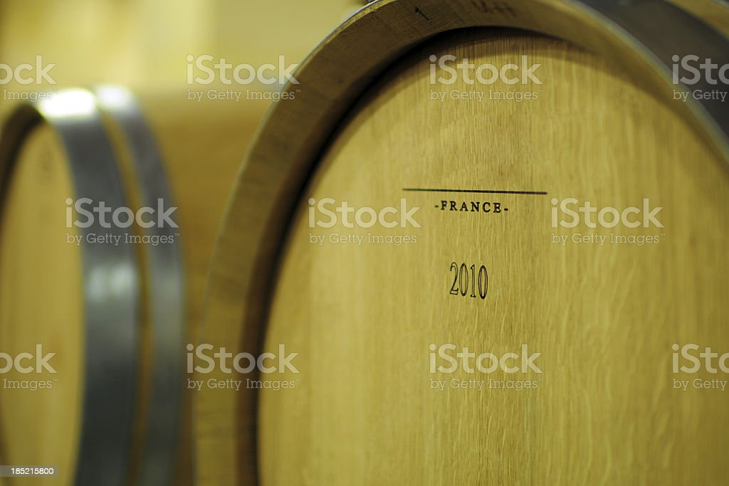Wood Wine Barrel - XLarge royalty-free stock photo