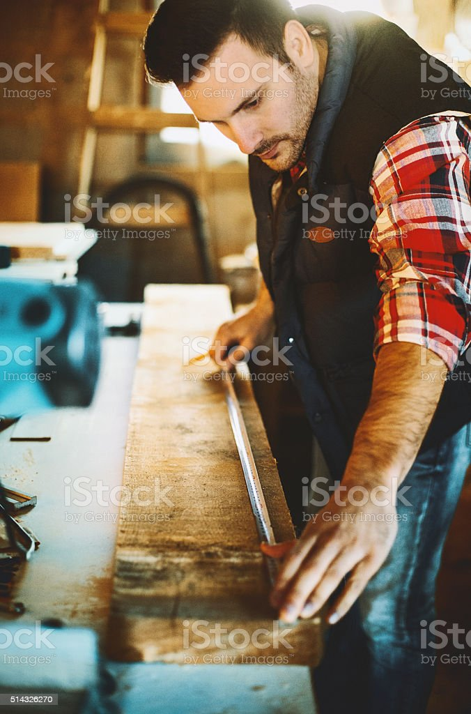 Wood working. stock photo