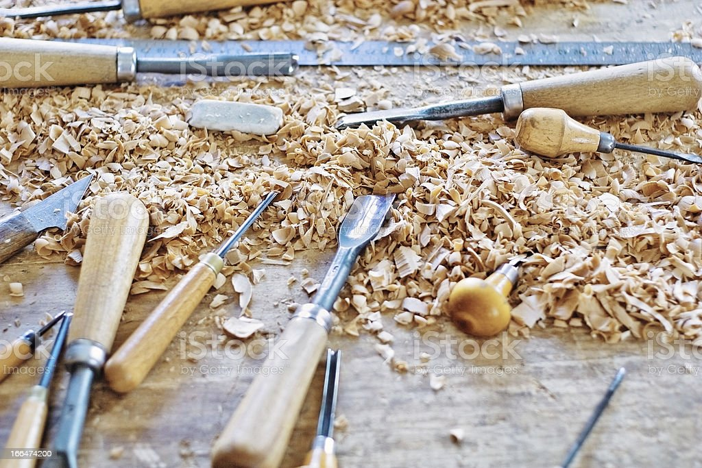 wood working tools royalty-free stock photo
