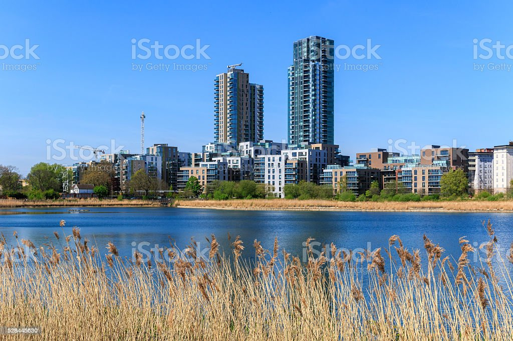Woodberry Wetland in London stock photo